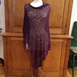 Purple Chrochet Poncho